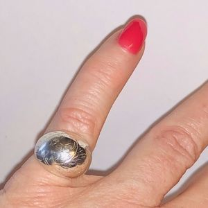 Jewelry - Vintage Sterling Silver Dome Ring, Size 5, Nice!